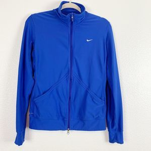 Nike Navy Blue Dri-Fit Full Zip Polo Jacket Mens M